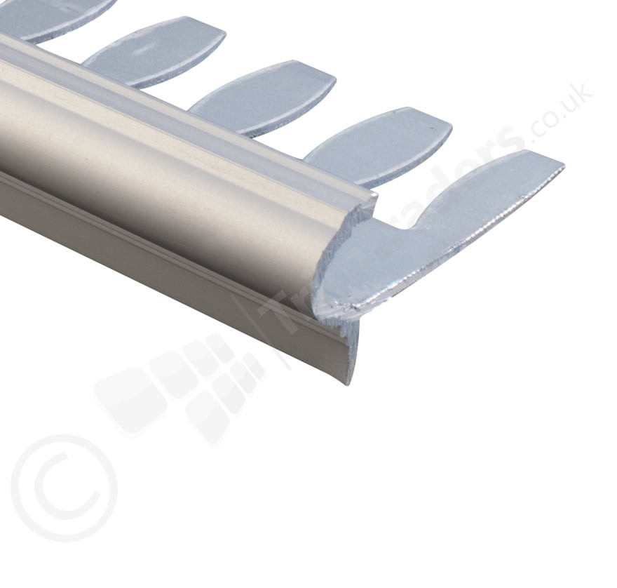 Tile Trims Dural Formable Aluminium Round Step Edging