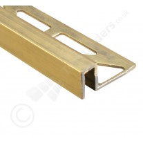 Natural & Highly Polished Brass Box Section Tile Trim (DPM) 2.5m