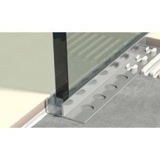 Genesis Aluminium Glass Panel/Shadow Gap Trim (LGA) 2.5m