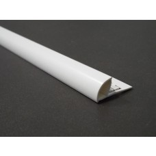 Trimtraders White PVC Quadrant Trim 2.5m