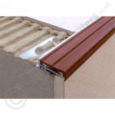 Dural Aluminium/PVC Tread Step Edging Profile 2.5m