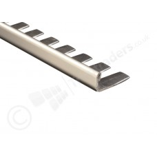 Genesis Stainless Steel Formable Straight Edge Tile Trim (ESF) 2.5m